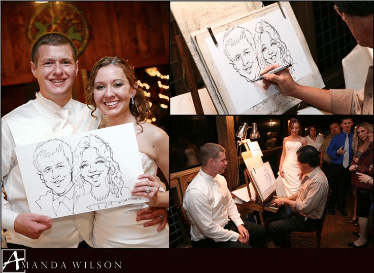 Caricature Artist cocktail hour entertainment ideas