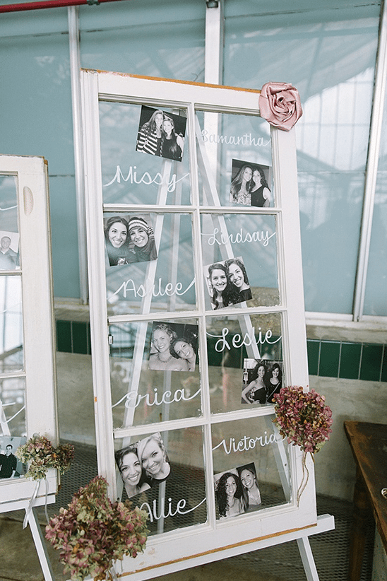 Wedding party Photo display cocktail hour entertainment ideas