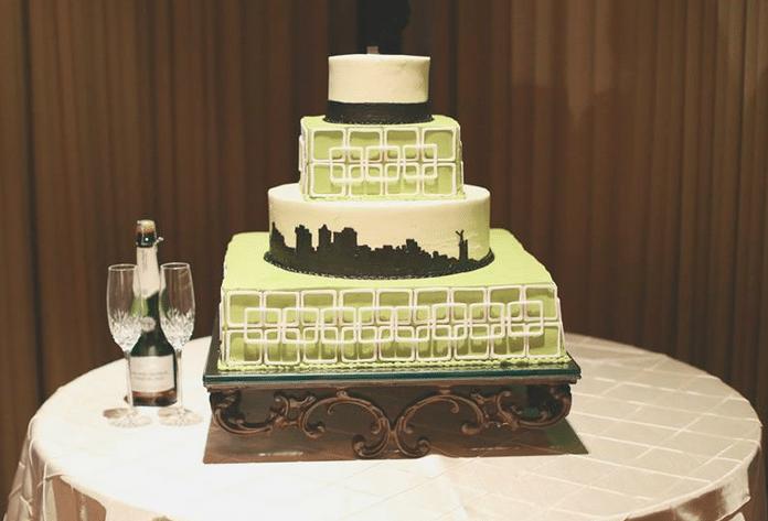 Olexa's cake Vulcan Park pintuck linen
