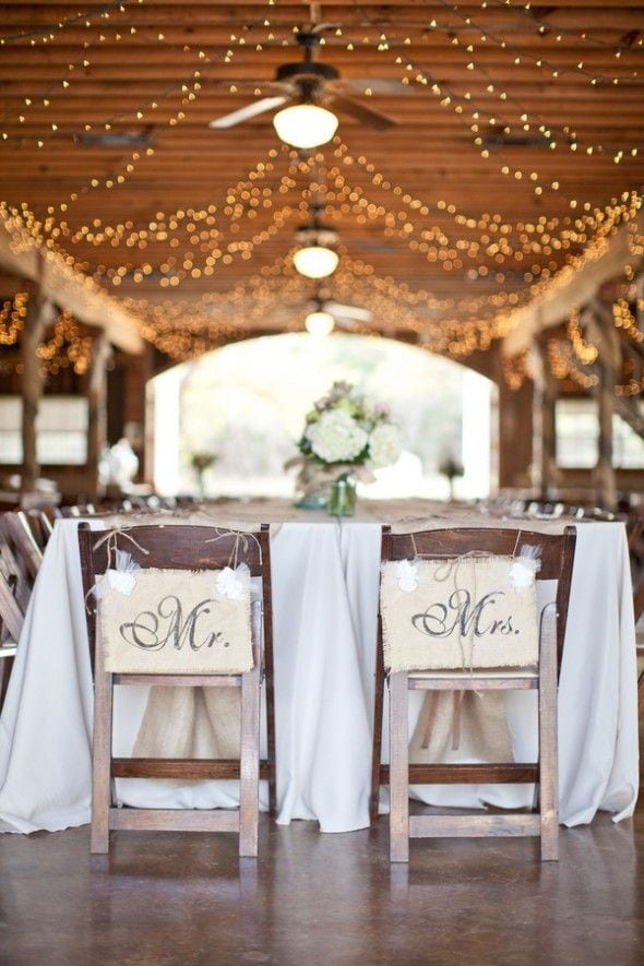 2015 wedding trends Barn Wedding chair decoration