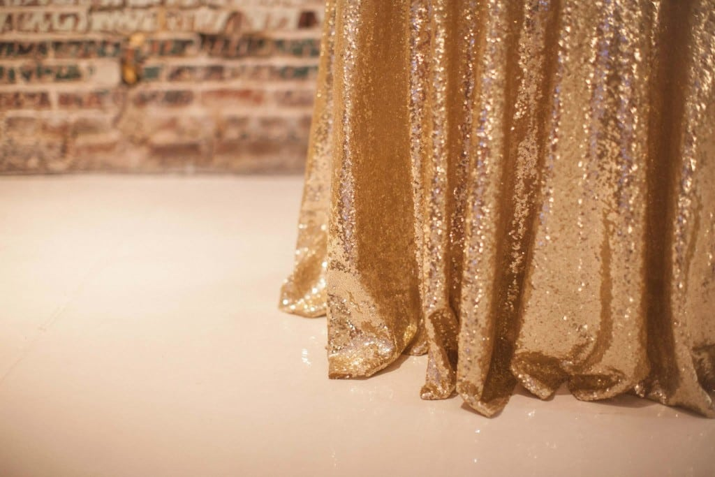 Glitter and Glam Weddings, A Still Breathe Photography, BridgeStreet Gallery and Loft, Gold Sequin, Decor to Adore