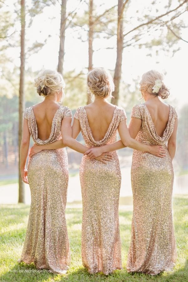 Deer Pearl Flowers, Sequin Dresses, Glitter and Glam Weddings