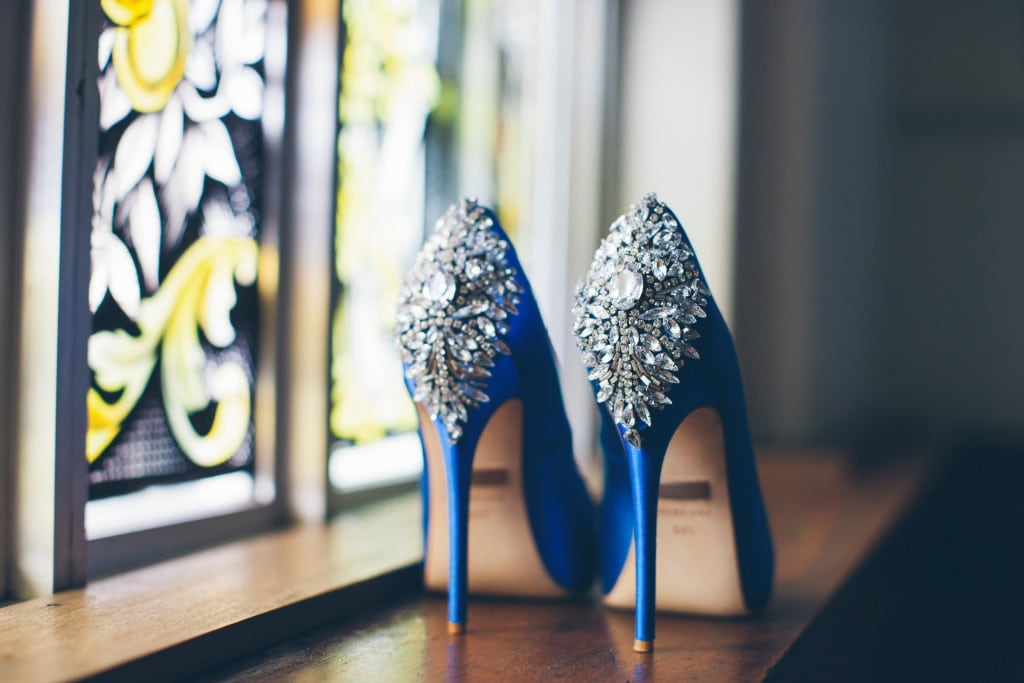 Blue Wedding Shoes Iron City Birmingham Wynter Photography
