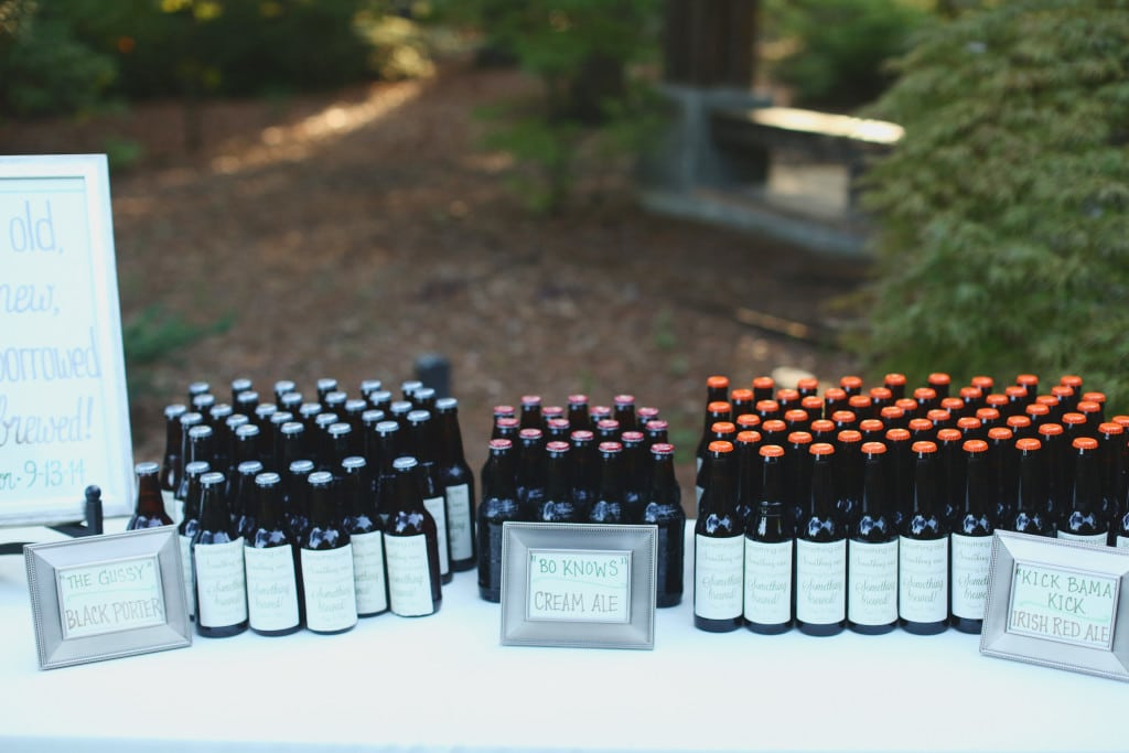 aldridge gardens, j.woodbery, decor to adore, becky's brides, beer favors