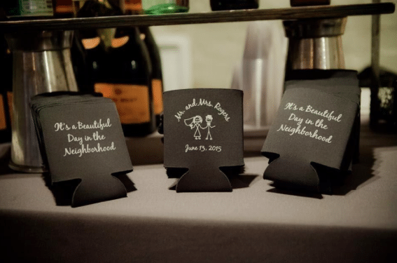 Wedding Koozies Allison Lewis Photography